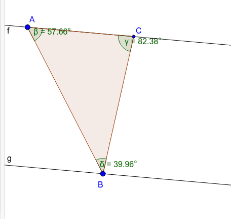 Move Vertex B, is the sum of the angle measures an invariant? Press Enter to start activity