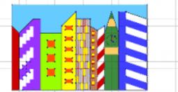 рисуем город