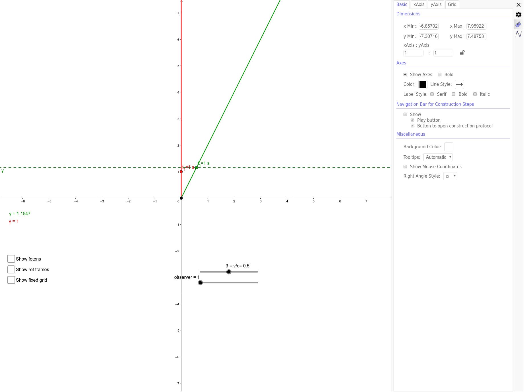 Deriving gamma in relativity Klik op Enter om de activiteit te starten