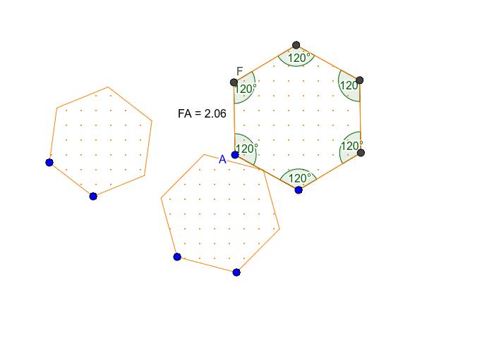 Creating a regular hexagon tool  Press Enter to start activity