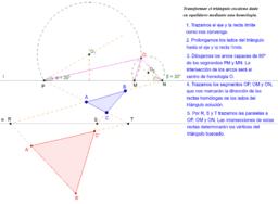Transformar triángulo escaleno en equilátero