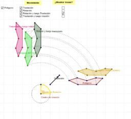 Composición de rotación y traslación