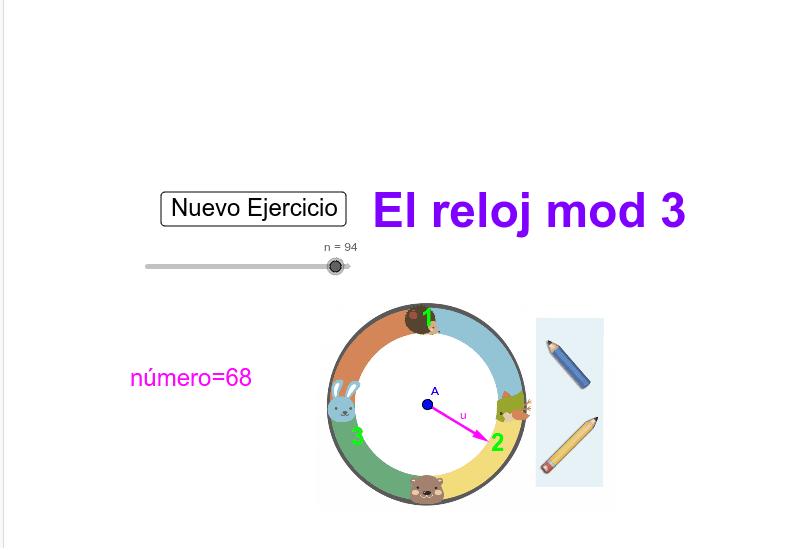 El reloj mod 3 Presiona Intro para comenzar la actividad