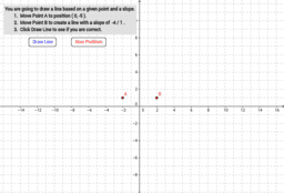 Linear Relationship: Graphing Lines Using a Point and Slope