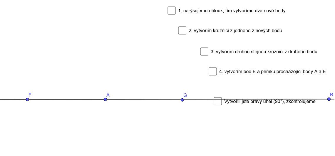 pravý úhel Zahajte aktivitu stisknutím klávesy Enter