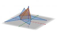 piramide con base cuadrangular