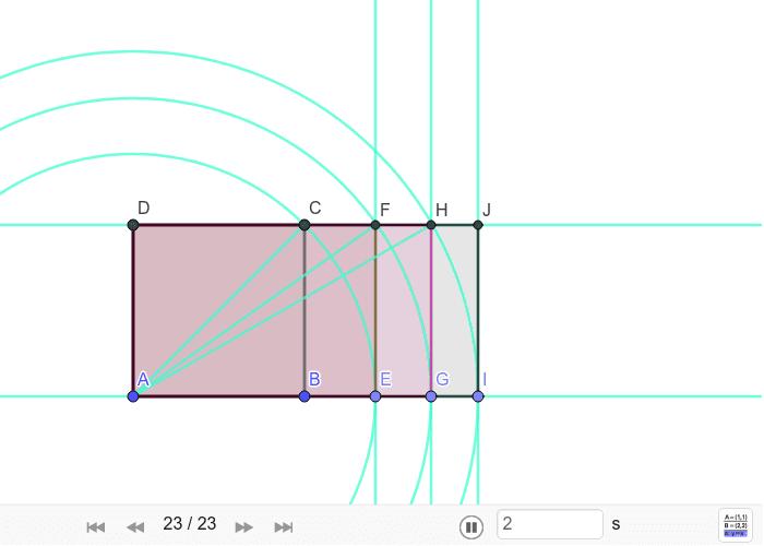 Konstrukcija pravokutnika pod nazivom dubl ili pravokutnik √4 Pritisnite Enter kako bi započeli aktivnost