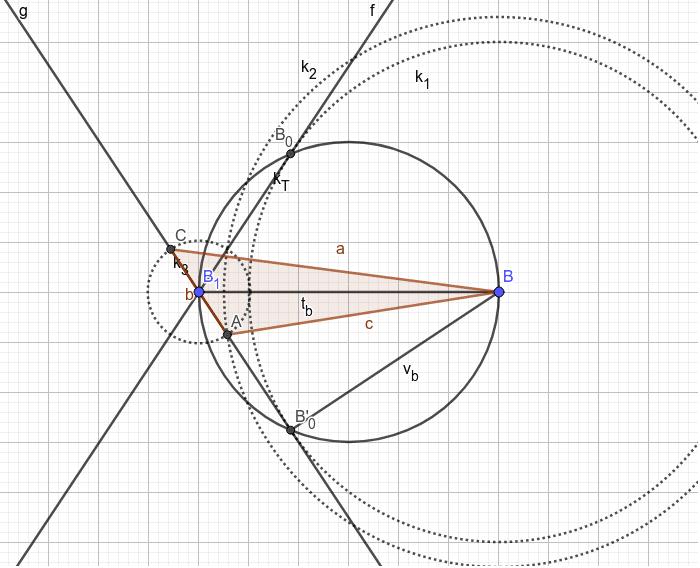 Výška a těžnice na b, strana c