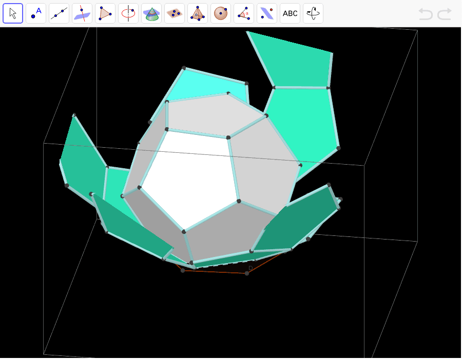 Dodecaedro y su desarrollo