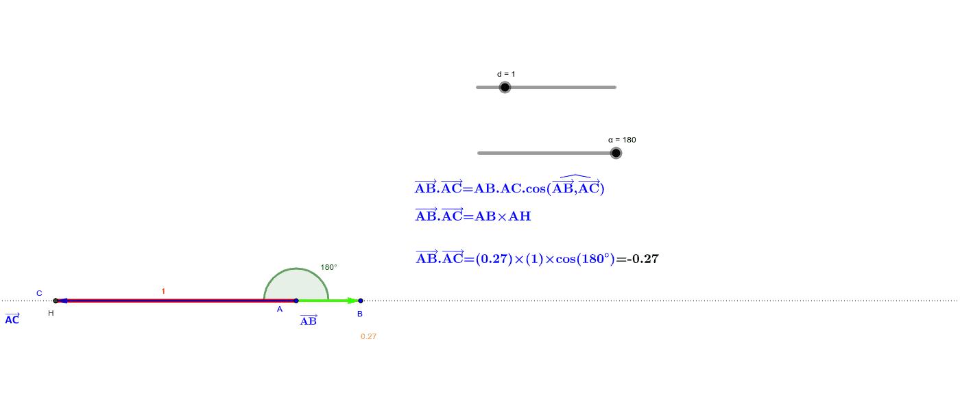 """Définition du produit scalaire par la formule du cosinus Tapez """"Entrée"""" pour démarrer l'activité"""