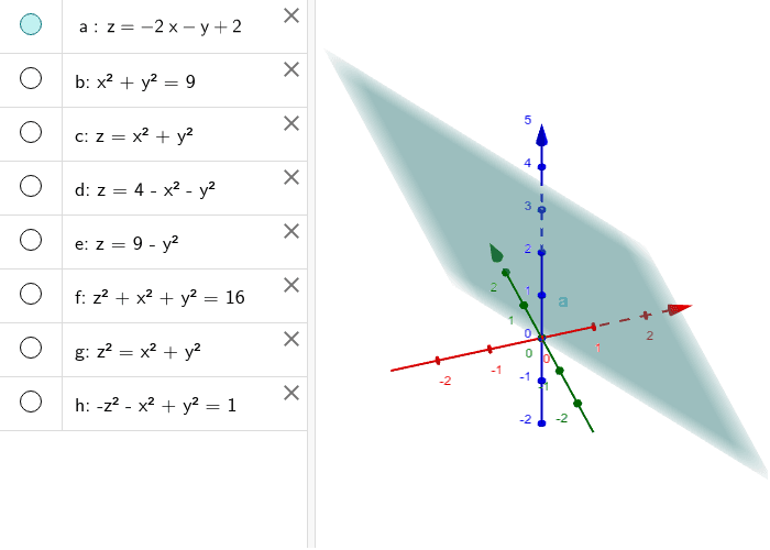 7)Realice los siguientes gráficos en 3D: Presiona Intro para comenzar la actividad