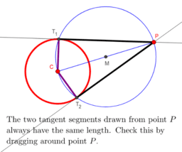 Two Tangents Theorem