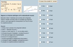 Bevis for vektorprojektion