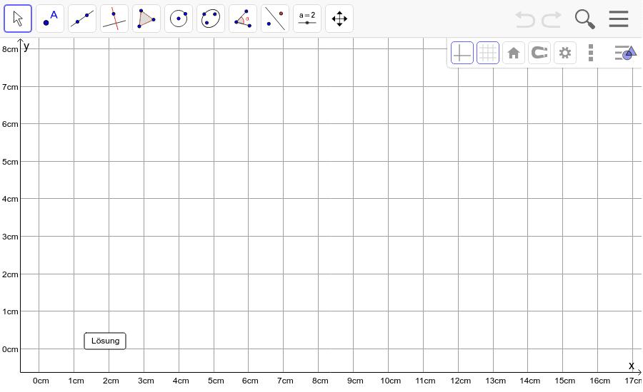 Dreieck 3: A(5/0), B(10/7), C(2/2): Zeichne das Dreieck und konstruiere den Schwerpunkt S. Füge den Screenshot der Koordinaten von S im Auftrag in Teams ein! Drücke die Eingabetaste um die Aktivität zu starten