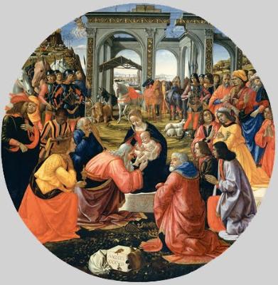 Ghirlandaio. Adoración de los Magos, 1488. Galería de los Uffizi. Florencia