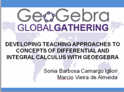 Developing Teaching Approaches to Concepts of Calculus