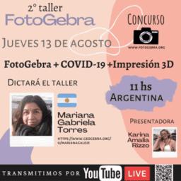 Taller: FOTOGebra+COVID-19+Impresion3D