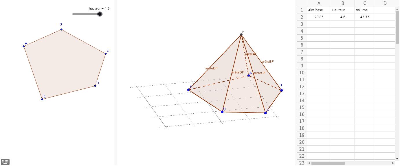 """Volume d'une pyramide Tapez """"Entrée"""" pour démarrer l'activité"""