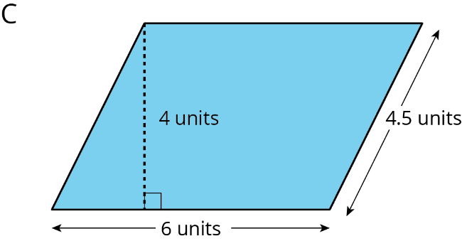 For the question below, refer to parallelogram C shown here.