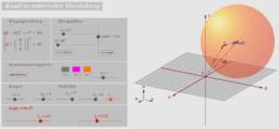 Kugel in vektorieller Darstellung