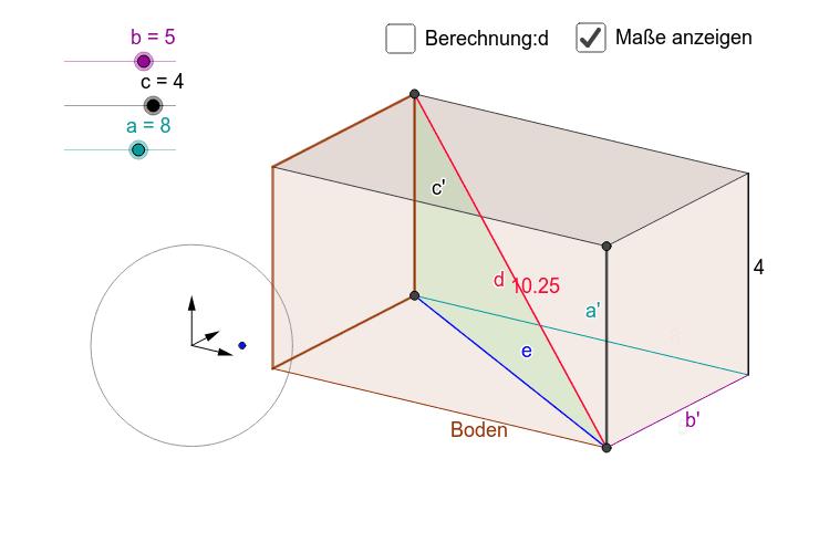 """""""Pythagoras in 3d"""" Drücke die Eingabetaste um die Aktivität zu starten"""