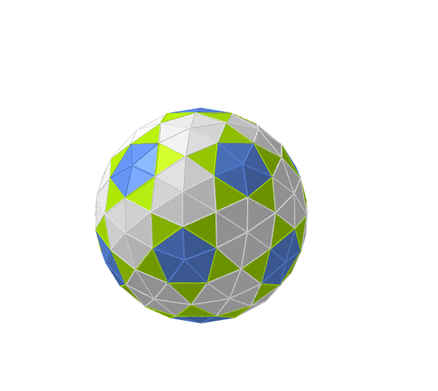 Esfera geodésica 2V a partir de un dodecaedro Press Enter to start activity