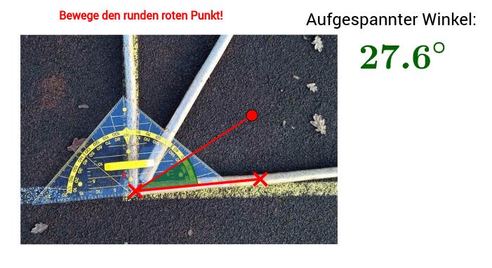 Vermessung Winkel Punkt B Drücke die Eingabetaste um die Aktivität zu starten