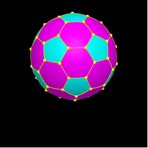 C60足球模型(金丝彩球) 按 Enter 开始活动