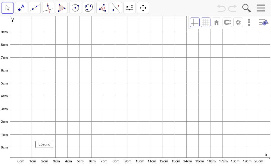 Dreieck 9: A(2/2), B(10/1), C(9/5): Zeichne das Dreieck und konstruiere den Schwerpunkt S. Füge den Screenshot der Koordinaten von S im Auftrag in Teams ein! Drücke die Eingabetaste um die Aktivität zu starten