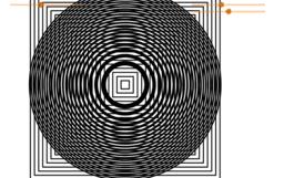Moiré, cercles de Fresnel et carrés concentriques