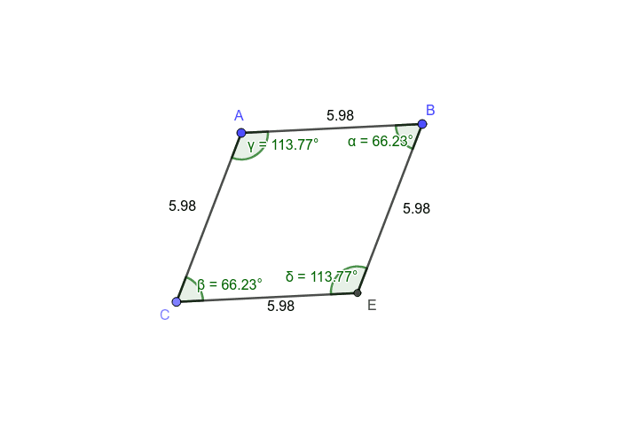 Rhombus-Angles and Sides