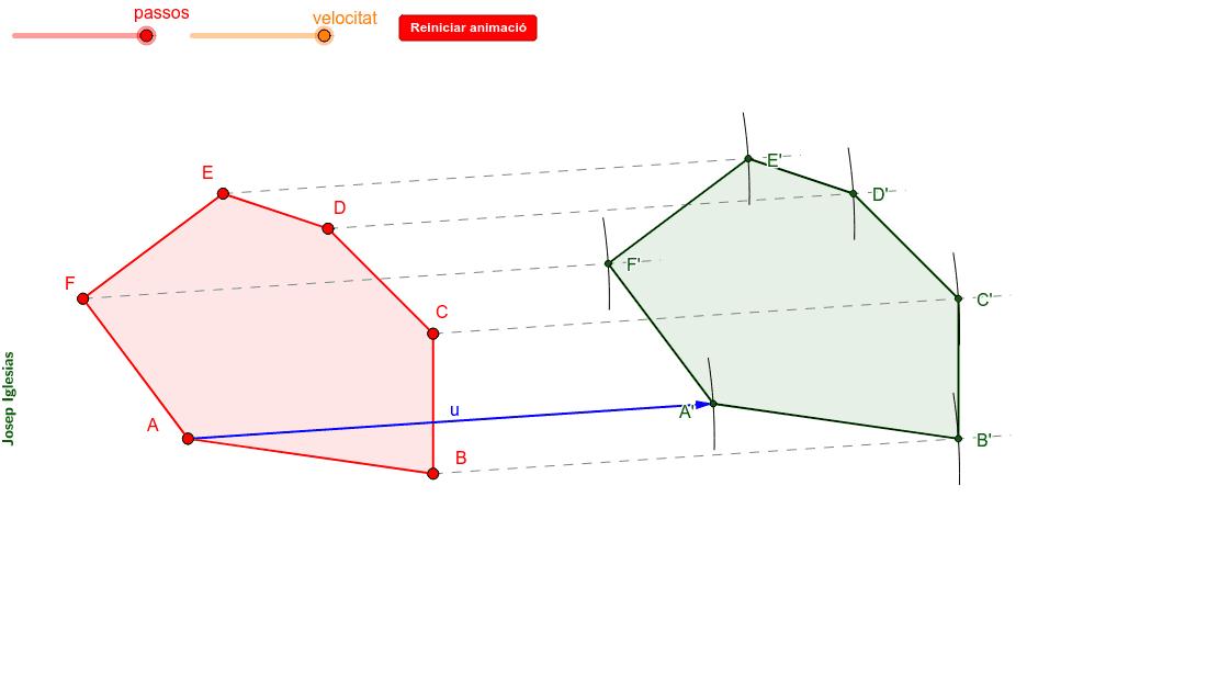 Construcció d'un polígon mitjançant una translació: