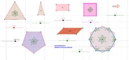 Geogebra ile Dönme Simetrisi