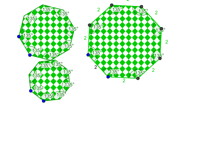 Creating regular octagons  Press Enter to start activity