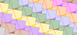 Pythagorean Theorem by Tessellation # 38 Tiling
