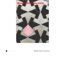 """Mosaico Alhambra """"aviones"""""""