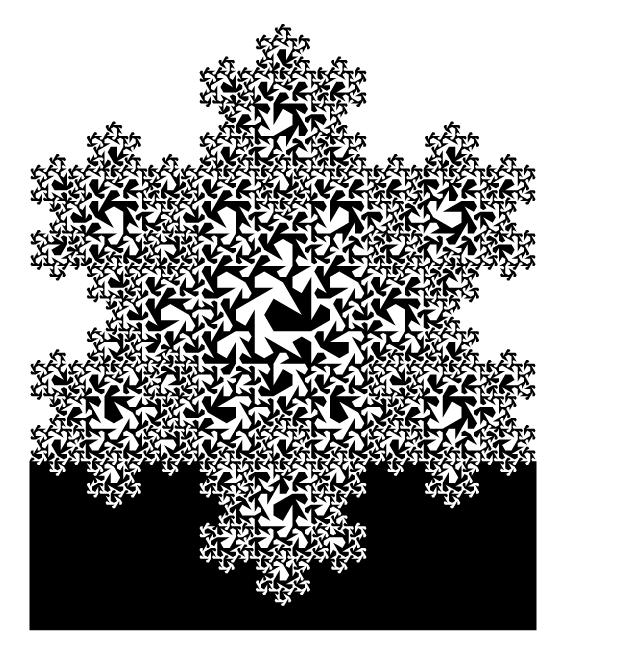 Teragon in Koch Snowflake