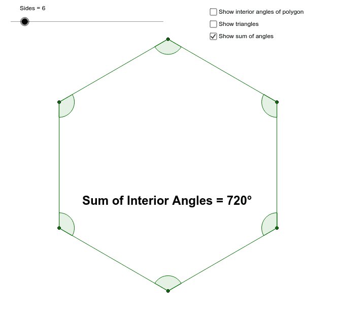 Sum of the Interior Angles of a Polygon – GeoGebra