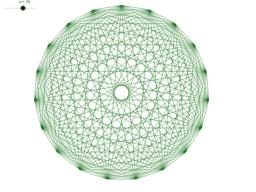 Wielokąt z przekątnymi / Regular polygon with diagonals