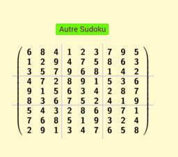 Permutation de colonnes et lignes, Sudoku