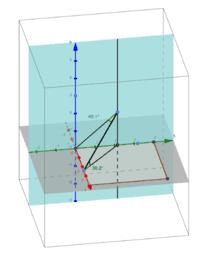 Angulo entre una recta y los planos de proyección