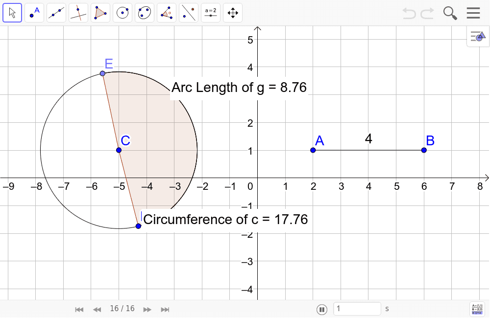 Distance on a segment and circle