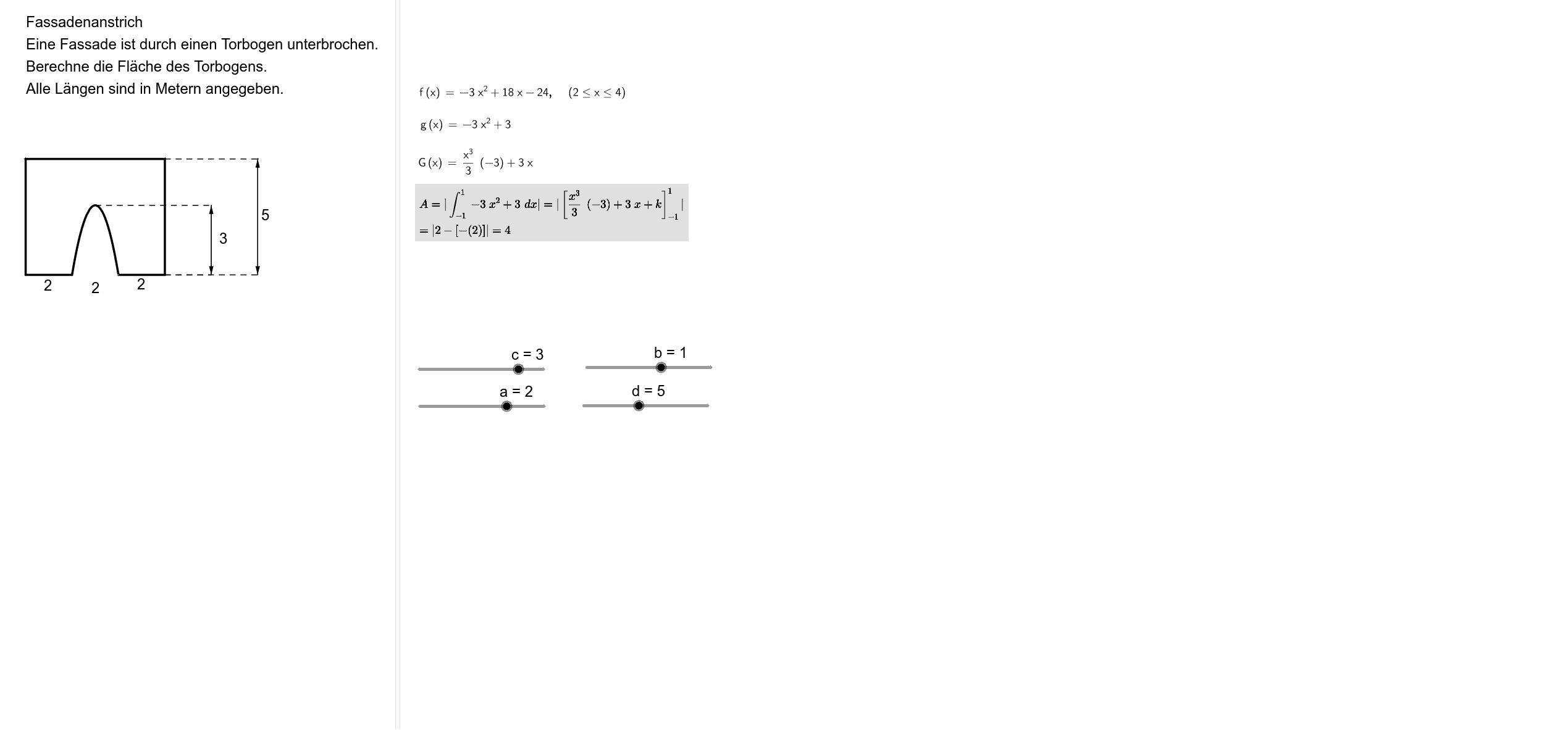 Rekonstrunktion von quadratischen Funktionen 2