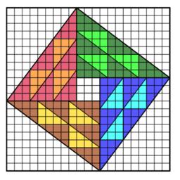 Pythagorean Theorem:  Chou Pei Suan Ching's Proof x 3