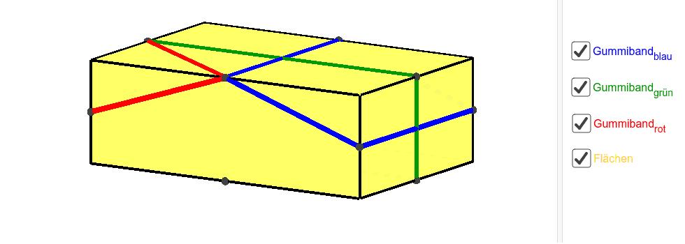 Quaderschrägbild mit Gummis