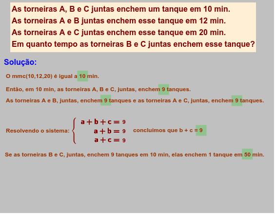 Os números com tarjas verdes podem ser alterados, clicando-se neles. Press Enter to start activity