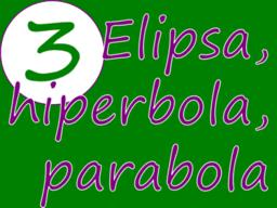 Elipsa, hiperbola i parabola