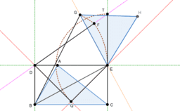 An equilateral triangle with area equal to a given triangle 1