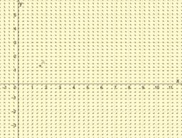 Lösning av första ordningens linjär ODE med riktningsfält