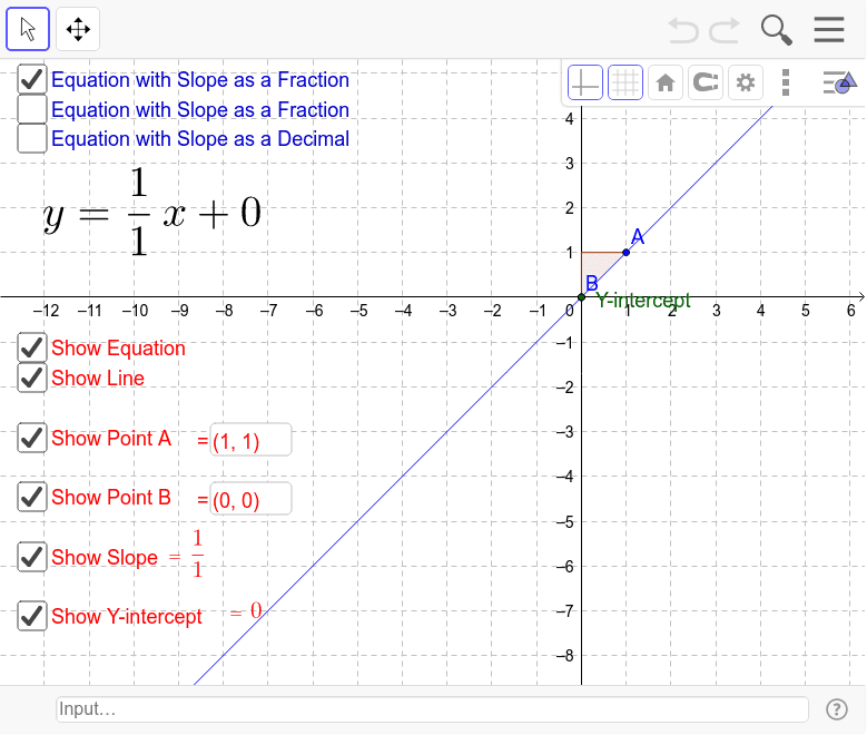 Slope-Intercept Interactive Worksheet – GeoGebra